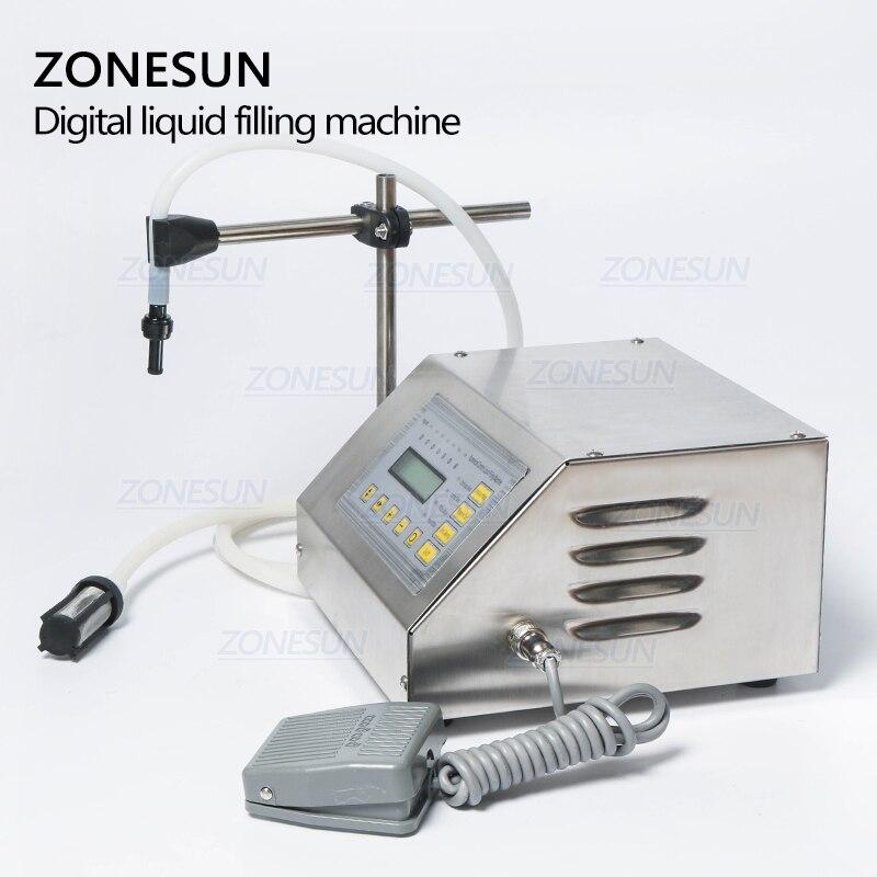 ZONESUN 5-3500ml Machine de remplissage liquide de boisson molle d'eau contrôle numérique GFK160 eau huile parfum lait petite bouteille de remplissage - 3