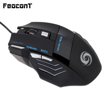 Gaming Mouse Wired 1200/1600/2400/3200/5500 DPI Adjustable 7 Button Wired Mice Opto-electronic For Pc Laptop Notebook цена и фото