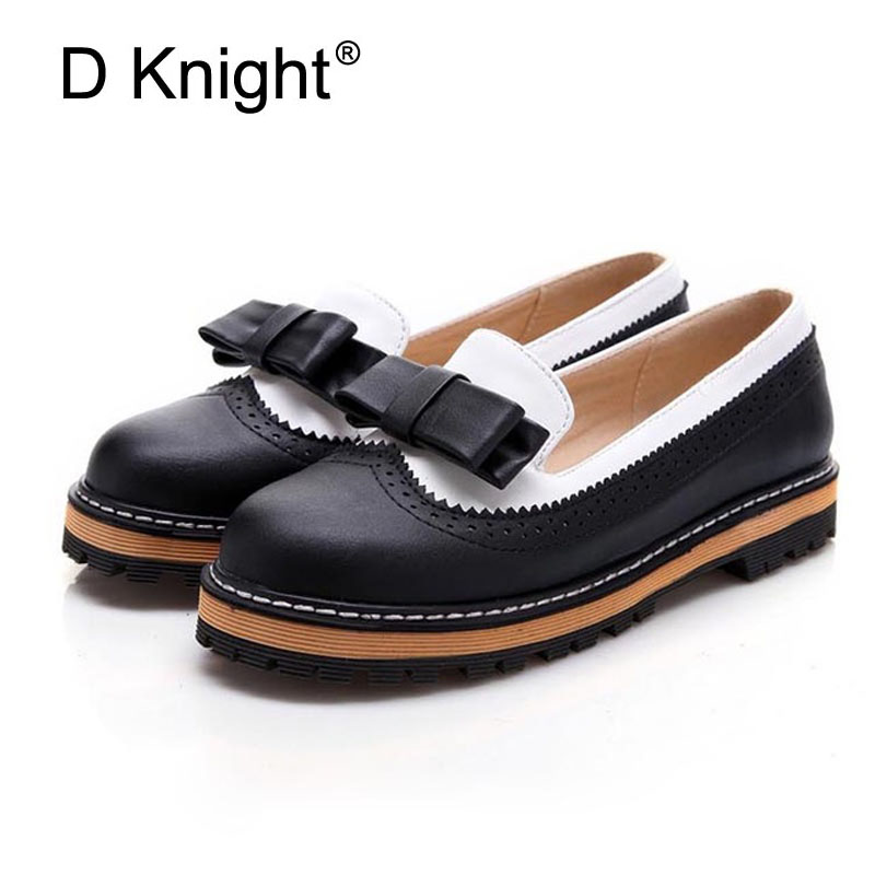 Ladies Casual Flat Oxford Shoes Sweet Bow Color Block Women Oxfords Fashion Carved Bullock Oxfords Shoes Woman Slip-on Loafers свитшот name it name it na020ebzoa92