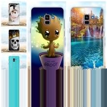 For Samsung Galaxy A8 Plus 2018 Case TPU For Samsung Galaxy A8 Plus 2018 A730F Cover Cat Patterned For Samsung A8 Plus 2018 Capa goowiiz коричневый samsung galaxy a8 plus