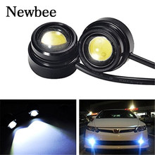 Newbee 2pcs Car Styling Eagle Eye Light 3W Waterproof LED Daytime Running/Brake Lamps / Car Lights/Parking/Back Up Light(China)