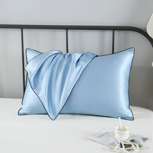 16momme New printed mulberry silk pillowcase  single side Silk bedding pillowslips black edge back use cotton fabric