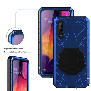 Image 5 - For Samsung Galaxy A50 A51 M51 Phone Case Hard Aluminum Metal with Tempered Glass Cover Silicon Cover For Galaxy A71
