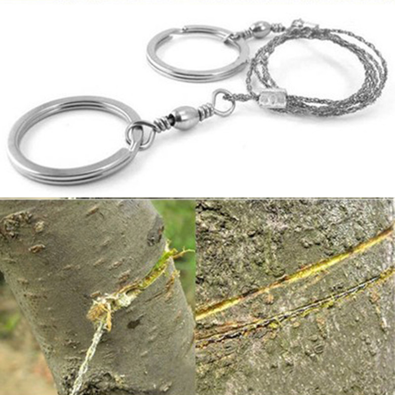 Stainless Steel Wire Saw 55cm 25g Hunt Flint Cut Equipment Emergency Travel Kit Camp Hike Scroll Outdoor Survive Silver Tool New