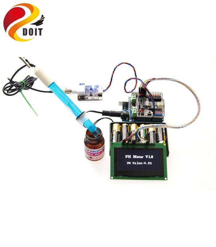 DOIT nouvel adaptateur de bouclier de ph-mètre de Simulation de capteur de PH de Source ouverte AVR pour Arduino UNO R3 Kit de démarrage de développement AVR
