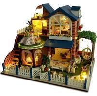 Кукольная Миниатюра 1:12 DIY Кукольный дом Прованс миниатюрные деревянные Строительство модели мебели модель для детей игрушки подарки на ден