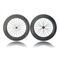 Toray T700 rodado de carbono 88 mm Clincher Rim brilhante Matte bicicleta rodados Road Bike rodados com Alloy Nippl W158823C001