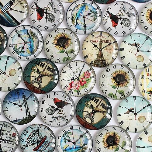 25 мм часы круглые Стекло кабошон купол Ювелирные изделия Поиск Камея кулон Настройки 20 шт./лот (k02108)