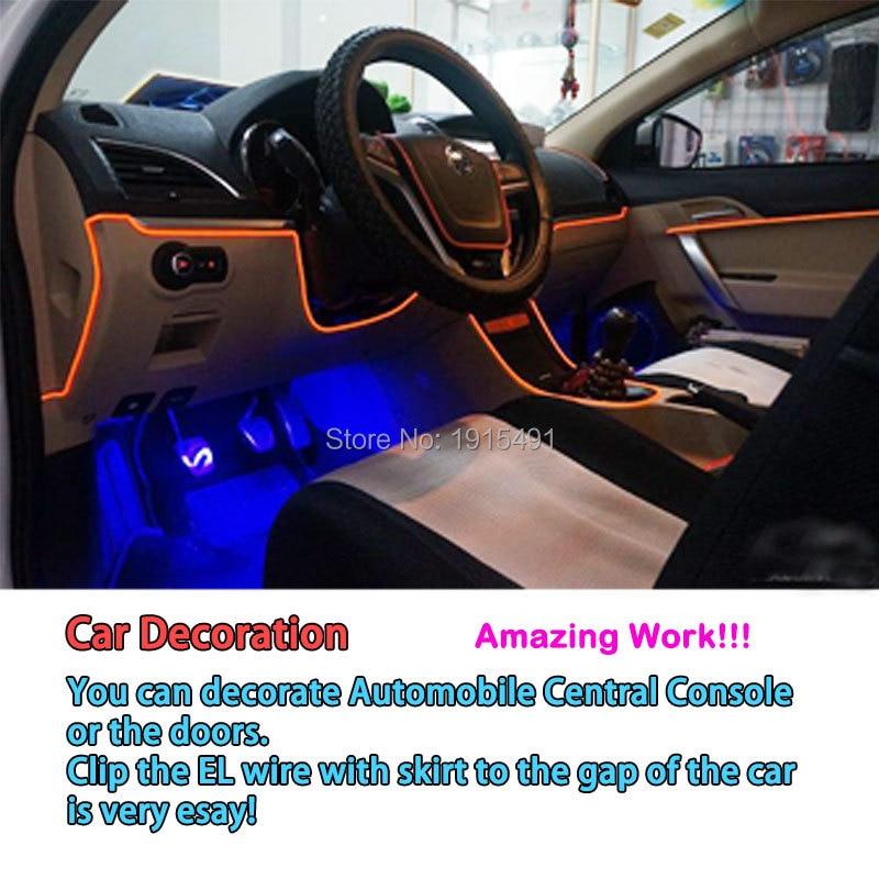 Good For DIY Decoration DC 3V 2Meter Auto Car Interior LED Strip ...