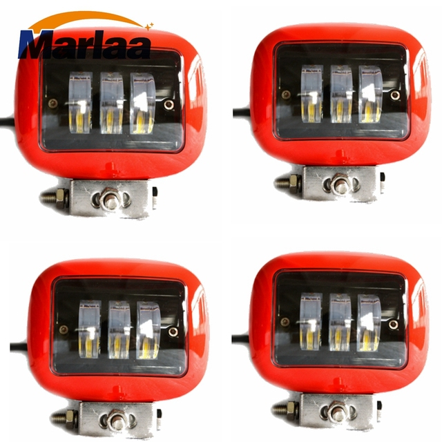 4pcs 4.5 Inch 30W LED Work Light for Indicators Motorcycle Driving Offroad Boat Car Tractor Truck 4x4 SUV ATV 12V