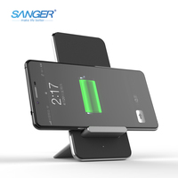 QI Wireless Charger Aluminum Removable Three Coils Phone Wireless Charger For IPhone 8 X Samsung Galaxy