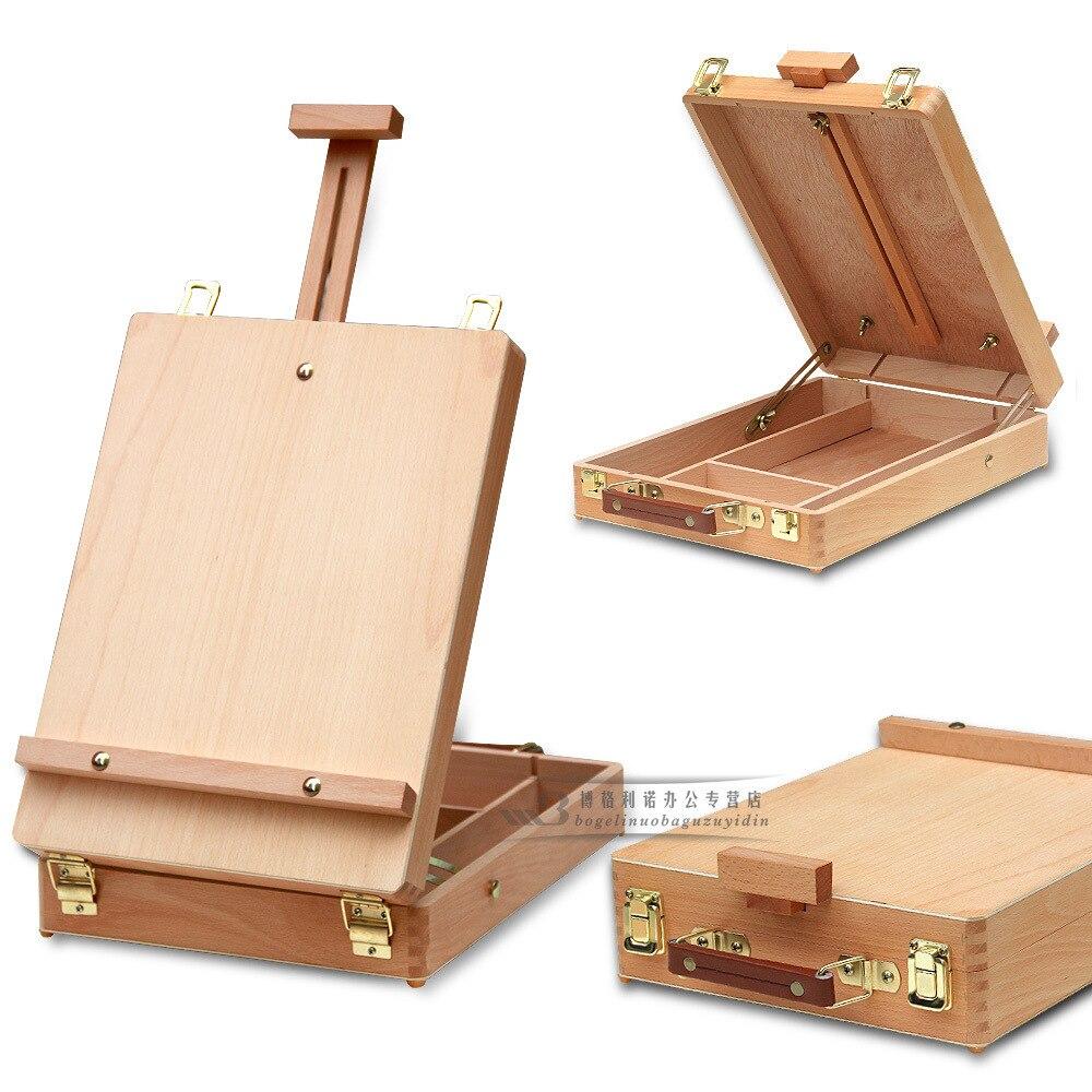 Accesorios de Hardware de pintura de caballete de escritorio para ordenador portátil, Maleta de pintura multifuncional, suministros de arte para Artista