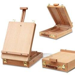 Filete ordenador portátil caballete en caja accesorios de pintura multifuncional maletín de pinturas suministros de arte artista
