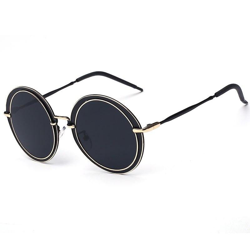 ЦЗЕ. B Ретро Круглый Солнцезащитные Очки Старинные Женщин Бренд Золото Металл Серебристо-Голубой Фиолетовый Зеркальные Женщины UV 400 Gafas ОЧКИ