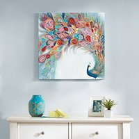 2018 Top Artist Art Work Oil Paintings 100% Hand Painted Oil Painting Animal Peacock Spreads Its Tail Painting for Home Decor