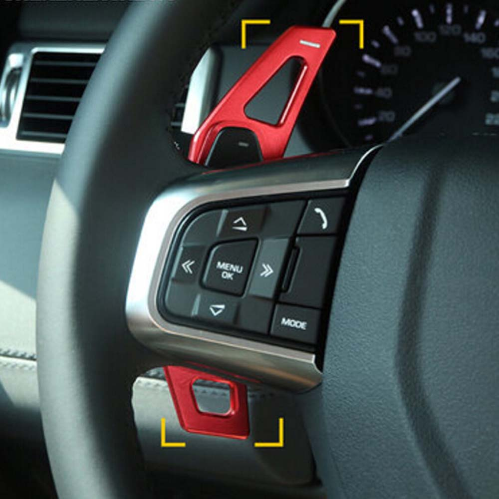 steering wheel gear shift paddles cover trim sticker for ...