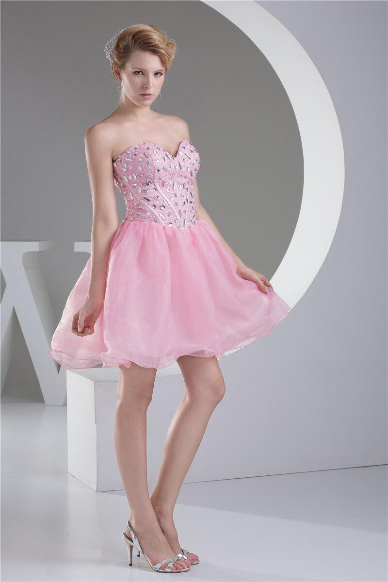 2017 pink party robe de nueva llegada vestidos lentejuelas piedras fashion mini