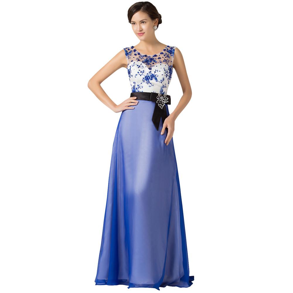 Grace Karin Long Evening Dresses Chiffon Elegant Beautiful Luxury Dinner Formal Evening Gown with Beading Robe De Soiree 2018 7