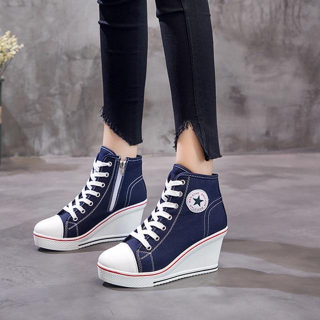 high heel canvas shoes buy d579b 6efa0