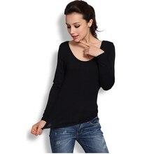 Новинка года; сезон весна-зима; повседневные женские плотные базовые Блузы с u-образным вырезом и длинными рукавами; женская рубашка размера плюс; Blusas Femininas; W00274