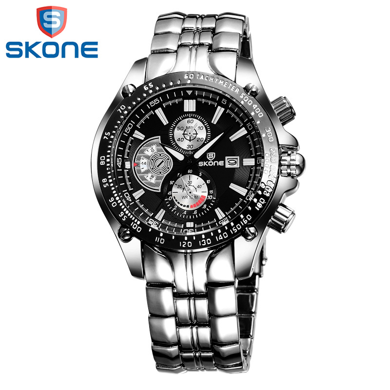 SKONE Luxury Brand Watch Clock for Men Dress Quartz Wristwatches Fashion Casual Male Military Sport Clock Relogio Masculino mens watch top luxury brand fashion hollow clock male casual sport wristwatch men pirate skull style quartz watch reloj homber