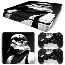Star Wars Black Cover For Sony Playstation 4 PS4 Slim Console Skin Sticker And Controllers Skins Game Stickers