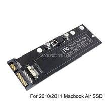 50pcs / lots PCBA 12+6 pin SSD HDD to SATA 22Pin Hard Disk Cartridge Drive for Apple 2010 2011 Macbook Air A1369 A1370 SSD