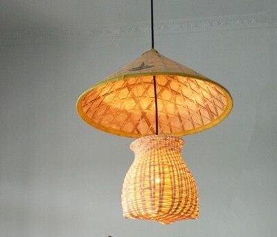Bamboo Lantern pendant lights Pastoral Country Garden Aisle Study Tea Room Clothing Store Center Creative pendant lamps ZA bamboo art pendant light aisle lights