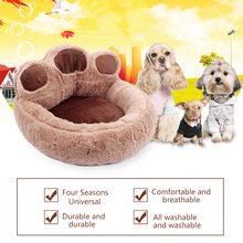 Warm Paw Style Dog Basket Beds Cushion for Small Medium Dogs House Puppy Bed Pet Cat Sofa Beding Fleece Cotton Blanket Mat