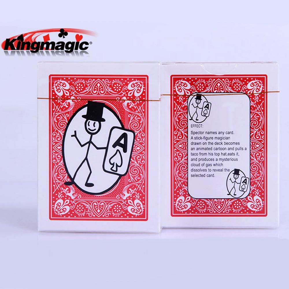 1 Deck Magic Prop Cartoon Cardtoon Deck Card Magic Playing Card Toon Animation Prediction Funny Magic Tricks Magician Gimmick