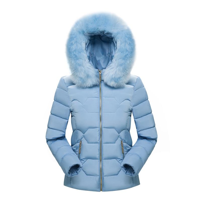 2019 Winter Coat Women Hooded Warm Jacket Plus Size Candy Color Cotton Padded Jacket Female   Parka   Womens Wadded Jaqueta Feminina