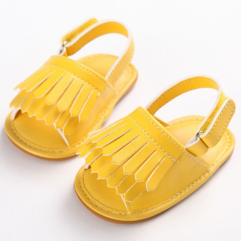 Tassel Infant Baby Girl Shoes Soft Leather Soft Bottom Crib Anti-slip Summer Shoes Best