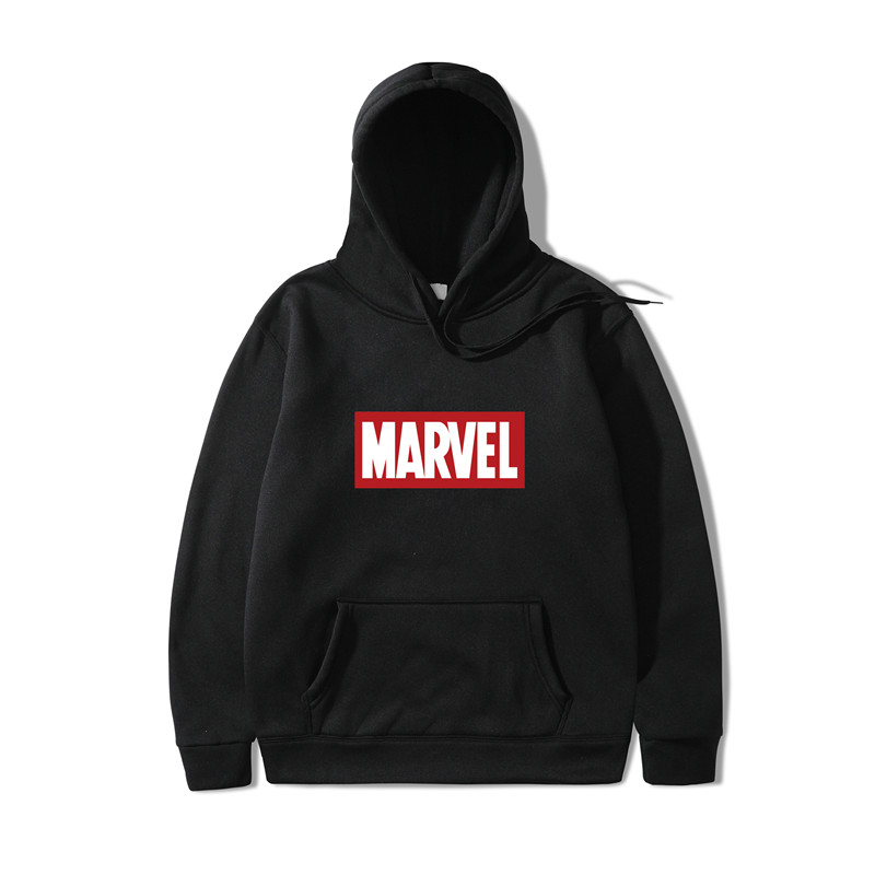 2019 Autumn And Winter Brand Sweatshirts Men High Quality MARVEL Letter Printing Fashion Mens Hoodies Thickened Men's Hoodies