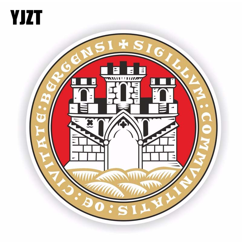 YJZT 13CM*13CM Personality Bergen Norway Coat Of Arms Window Car Sticker Decal 6-1714