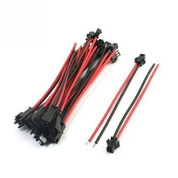 10 cm/pz 20 cm/pair 2pin LED cavo di collegamento, maschio e Terminali femmina connettore cavo, SMP 22awg Estendere via cavo filo