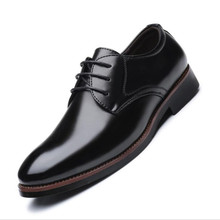 2019 Spring Fashion PU leather Men Dress Shoes Breathable Business Leather Trend Male Round toe Wedding shoes