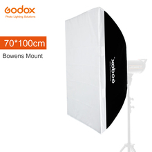 "Godox 70x100 cm 27.5 ""x 39"" Speedlite Estúdio Strobe Flash Photo Reflective Softbox Suave Box Difusor para Montar Bowens"