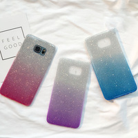Luxury Ultra Thin Gradient Color Glitter Transparent Soft Tpu Case For Samsung S6 S7edge Plus Note4