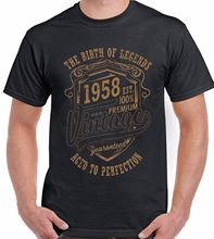 The Birth Of Legends 1958 Mens 60th Birthday Funny T-Shirt 60 Year Old Present New T Shirts Funny Tops Tee New Unisex Funny Tops year of our birth
