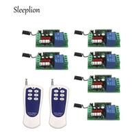 Sleeplion AC 220V 10A 1CH wireless 6 key Remote Control Switch Transmitter+6 Receiver Relay Power ON/OFF