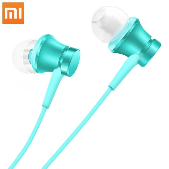 Original Xiaomi Piston In-ear Earphones Piston Headphone with Mic Fresh Version For iPod/ Mobile Phone/ Portable Media Player 2pcs 3 5mm in ear earphones headphone with mic