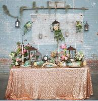 Rose Gold Sequin Overlay Sparkly Rose Gold Sequin Tablecloth For Wedding Decoration Glitz Sequined Table Linen
