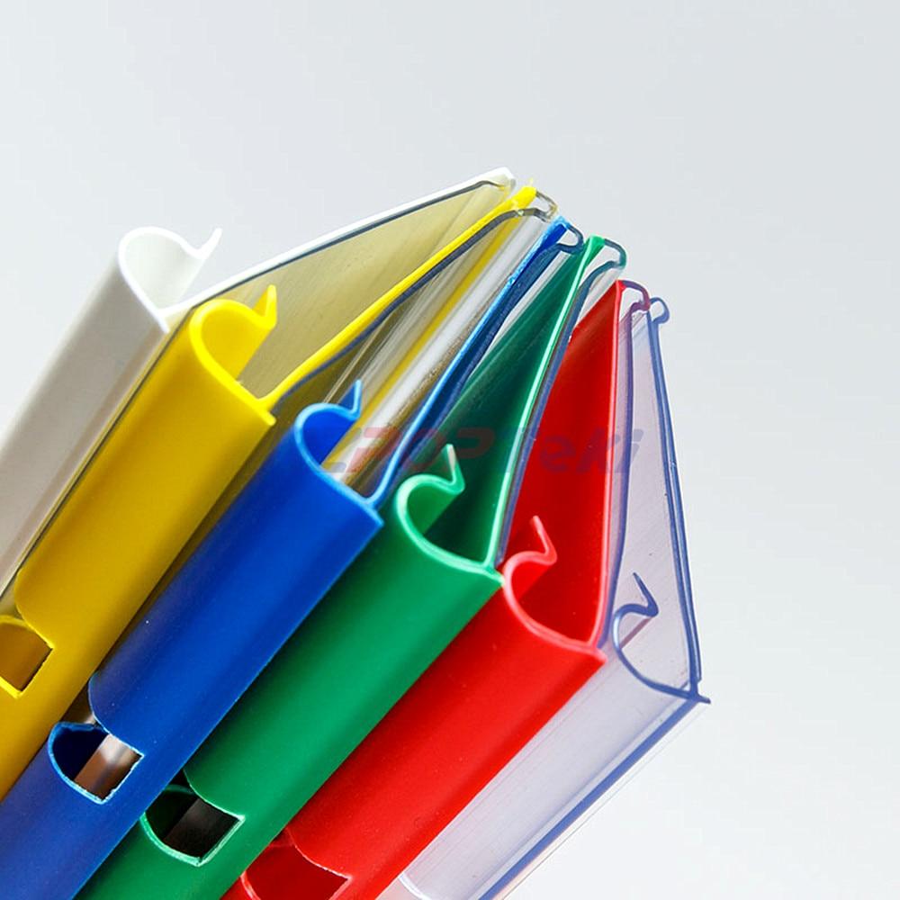 8/10x4/4.5cm Plastic PVC Price Tag Sign Label Display Hanging Holders Colorful For Supermarket Storage Shelf Rack Hooks 100pcs
