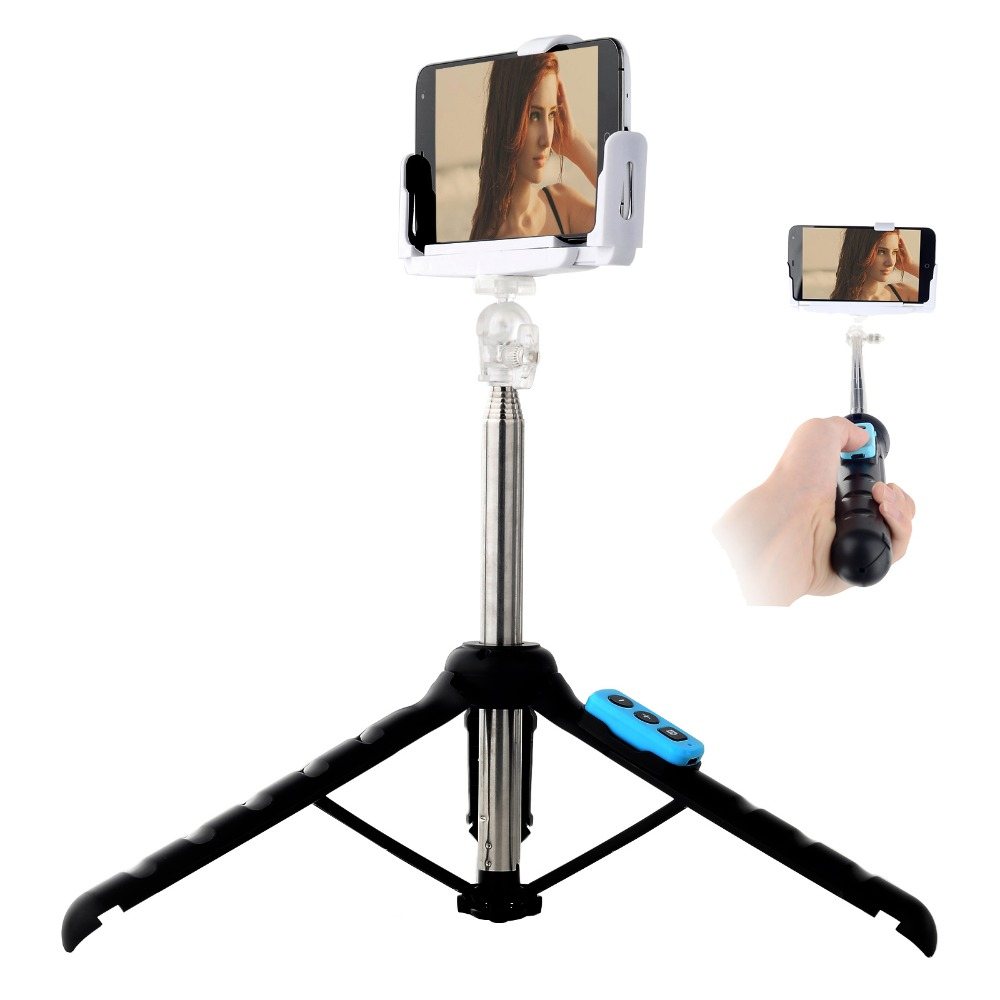 Handsfree Wireless Bluetooth Phone Tripod Extendable Selfie Stick Monopod for iPhone 6S Samsung HTC
