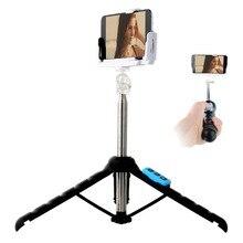 Громкой связи Беспроводной Bluetooth Телефон Штатив Выдвижная палка для селфи монопод для iPhone 6 S Samsung HTC