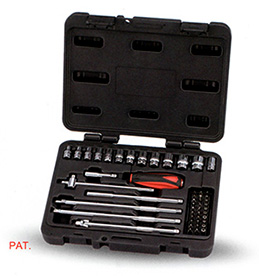 Taiwan Origin high qaulity 46PCS 1/4 ratchet wrench set  socket bits  bike Car Auto Repair hand Tools Sets  Combination  Kit car repair tool 46 unids mx demel 1 4 inch socket car repair set ratchet tool torque wrench tools combo car repair tool kit set
