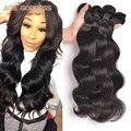Brazilian Virgin Hair Body Wave Natural Color Soft 7A Unprocessed Virgin Hair Brazilian Body Wave 4 Bundles 100g/PCS Human Hair