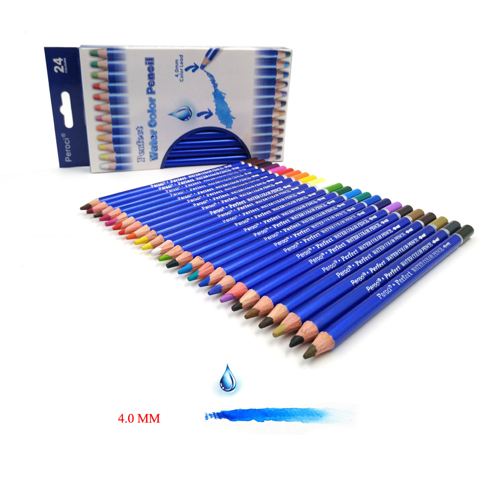 CHENYU 24 Colors Watercolor Pencils Set Professional Water Soluble Color Pencil Lapis De Cor Art Pencil Lapices School Supplies 24 36 colors watercolor pencils lapis de cor professional lapis escolar school paint water soluble color hydrotropic carton