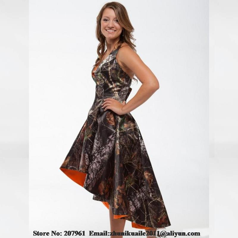 Camo Prom dresses 2016 Halter A line Camouflage Modest bridal gown ...