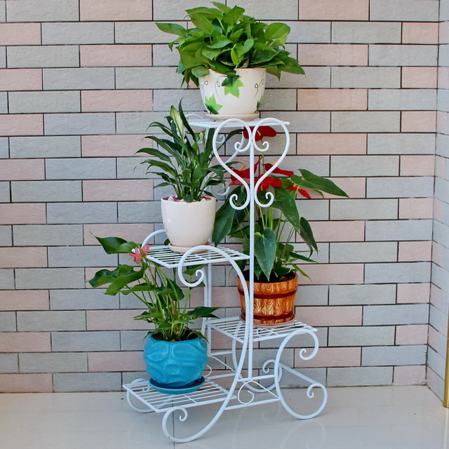 ФОТО The new nest square iron wood green creative multi Chlorophytum indoor floor living room shelf wooden flower stand FREE SHIPPING